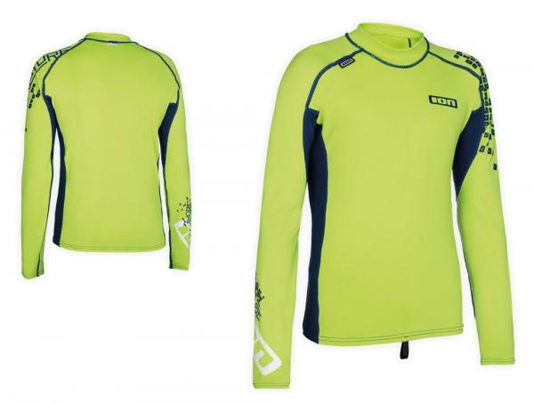 ION - Rashguard Boys LS Capture - lime green/navy