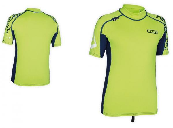 ION - Rashguard Boys SS Capture - lime green/navy